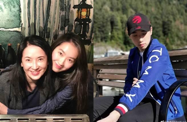 龔慈恩和林煒一對兒女,都遺傳父母好基因。(圖/翻攝自微博)