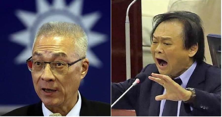 國民黨黨主席吳敦義(左)、民進黨籍台北市議員王世堅。(圖/合成圖,本報資料照)