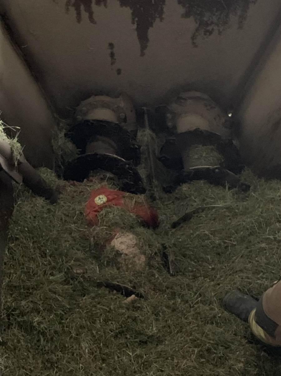 關廟區傳出女工人不幸掉入攪拌機意外。(台南市消防局提供)
