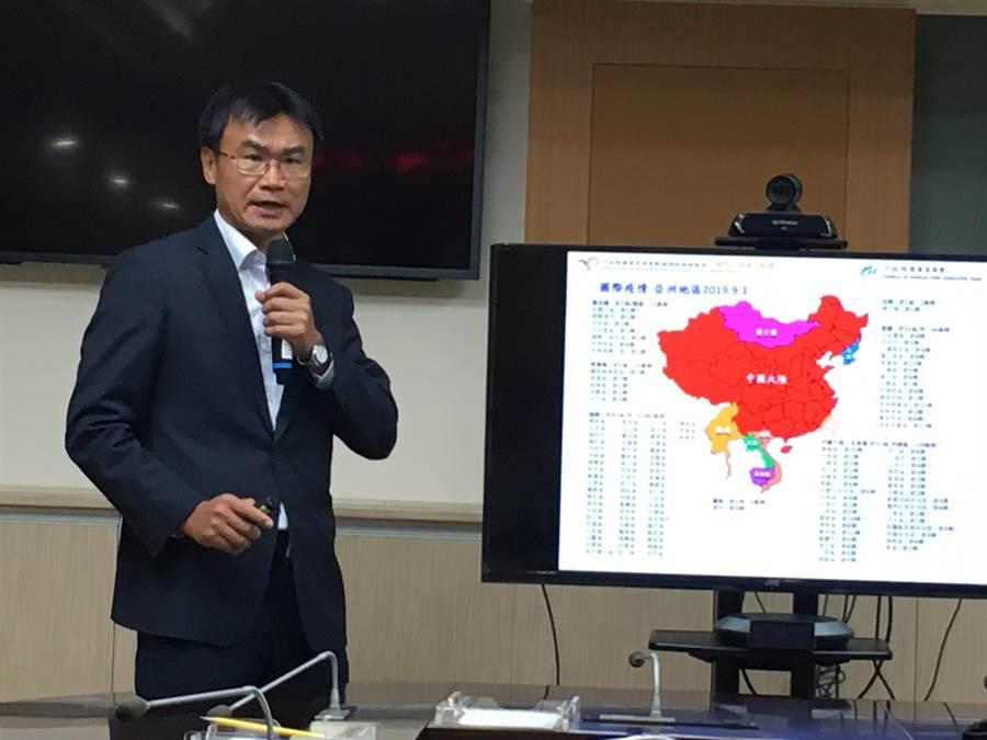 農委會主委陳吉仲表示,農委會正評估未來擴大所有亞洲國家旅客手提行李全面檢查。(游昇俯攝)