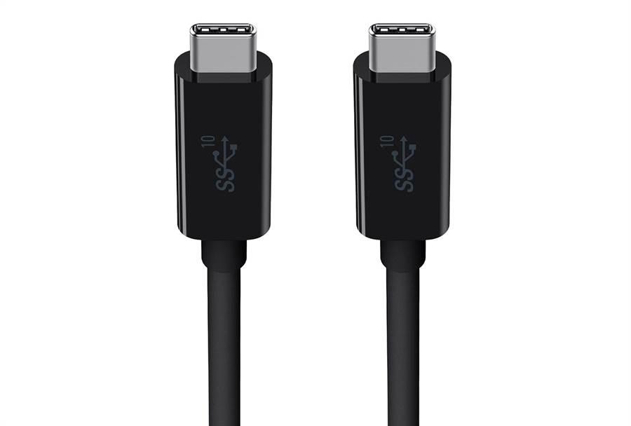 支援 USB 3.1 傳輸技術的 USB-C to USB-C 傳輸線。(摘自Belkin官網)