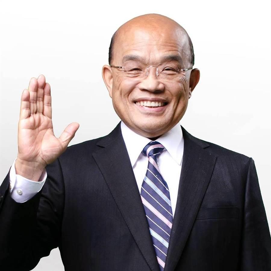 蘇揆說5年將投入300億設技職訓練場助選手練功。(圖/擷取自蘇貞昌臉書)