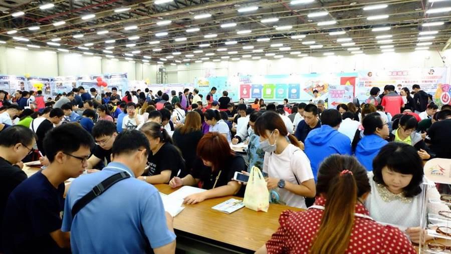 台中市就業博覽會9月7日登場,釋出逾3700職缺。(台中市社會局提供/盧金足台中傳真)