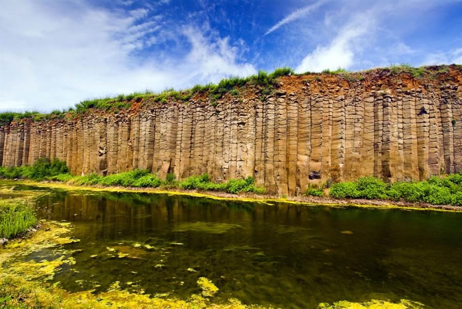 澎湖桶盤嶼玄武岩奇景。圖:五福提供