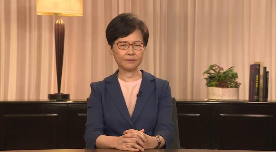香港特首林鄭月娥。(圖/翻攝自星島日報)