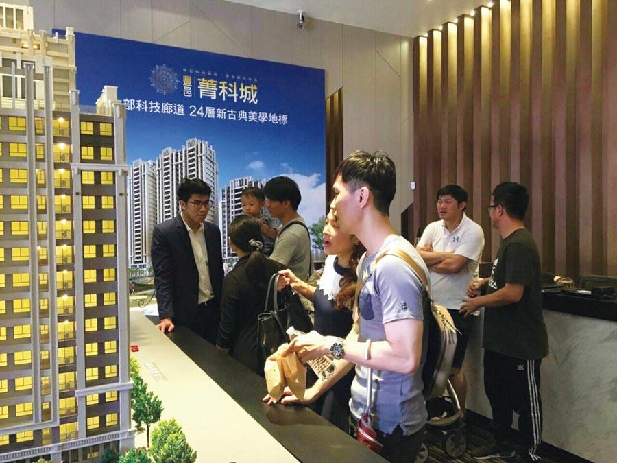 豐邑「菁科城」一期預售案,單是台中精密機械園區與中科的購屋族,預估就逼近5成。圖/曾麗芳