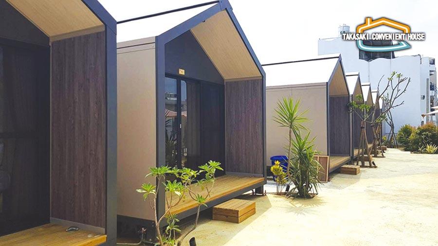 高崎便利屋基本4米深格局,能自由組合加長到8米,外觀設計感十足。自用、度假小屋、民宿、別墅、小套房、現代三合院,格局多樣。圖/業者提供
