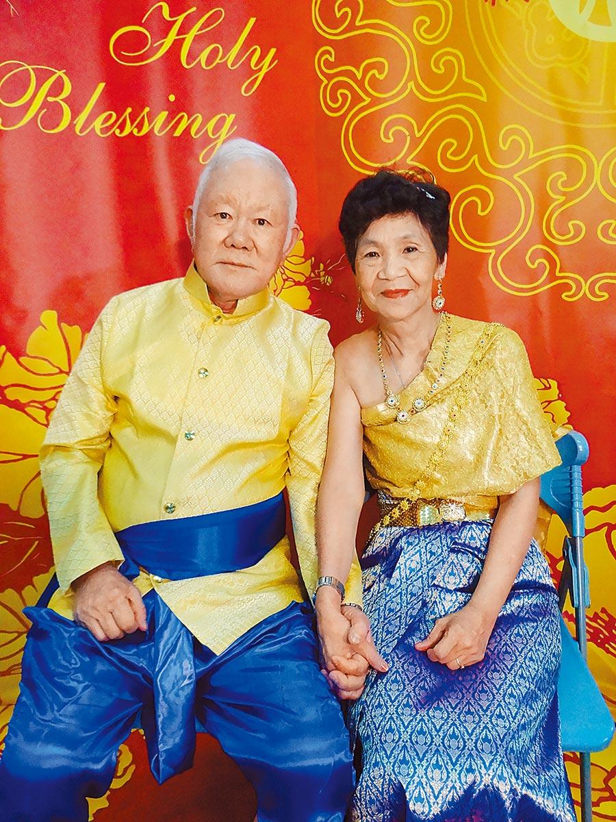 陸軍上校退伍的楊暨東與妻子馬榮光。(鄭晴而提供/曹婷婷台南傳真)