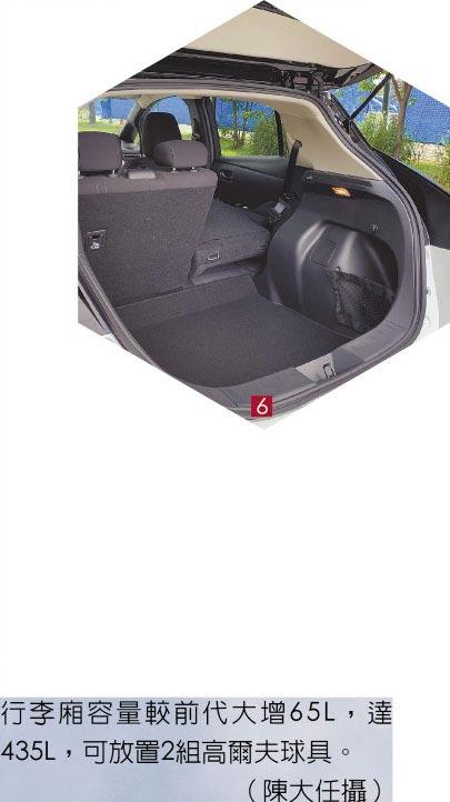 6.行李廂容量較前代大增65L,達435L,可放置2組高爾夫球具。(陳大任攝)