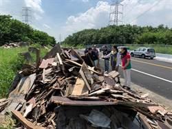 彰化伸港濱海路還未開通 先被不肖業者當垃圾場