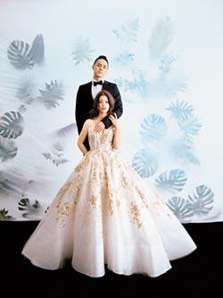 林珈安產後3月趕拍婚紗照