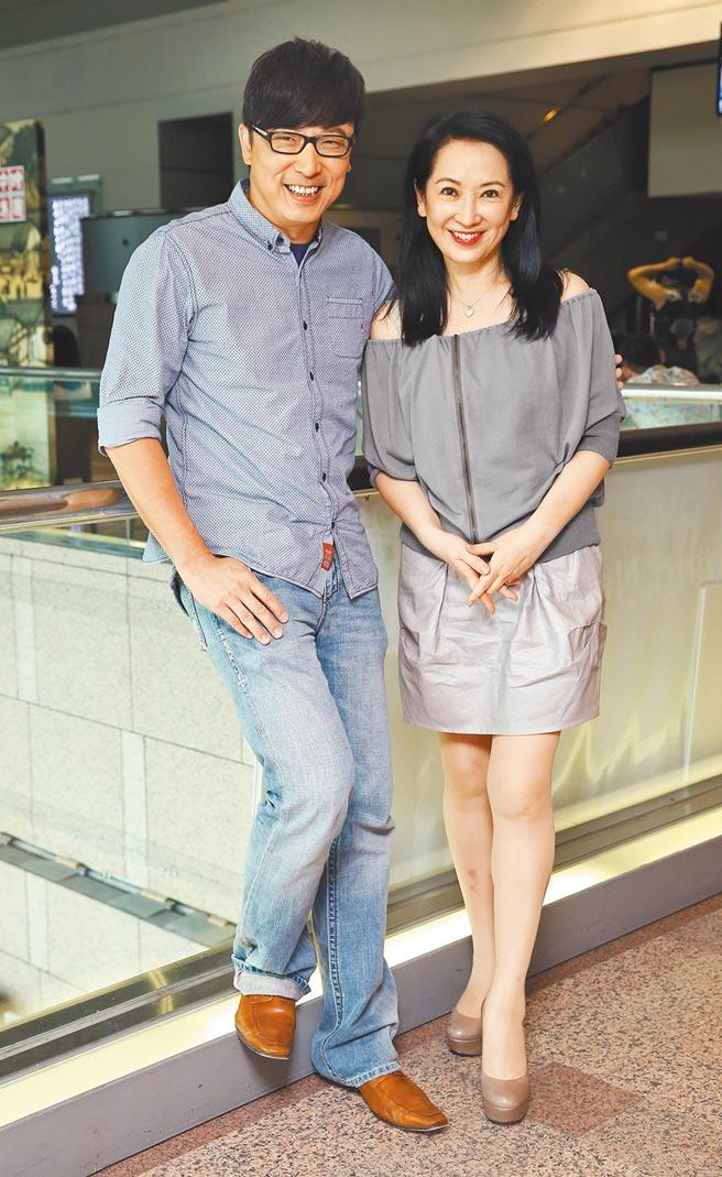 林煒(左)和老婆龔慈恩同框恩愛情景不再。(資料照片)