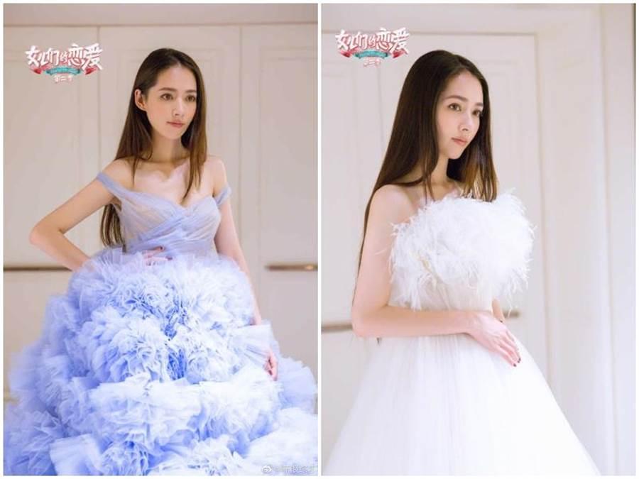婚紗呈現不同風采。取自微博