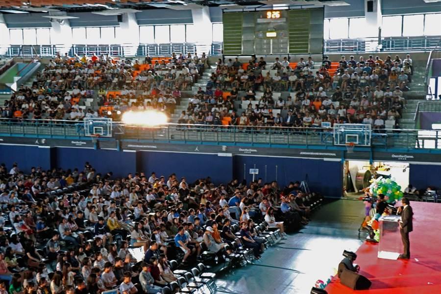 政治大學昨(4)日舉行新生訓練。(政大提供)
