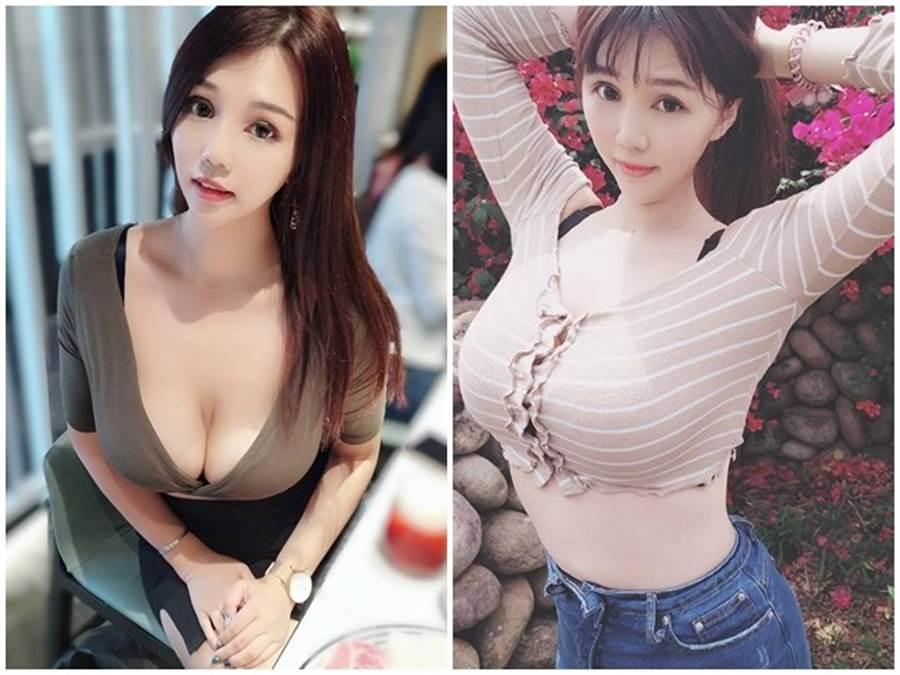 张维亚拥有K罩杯好身材 。(图/摘自Facebook/大奶薇薇-台湾冲田杏梨)