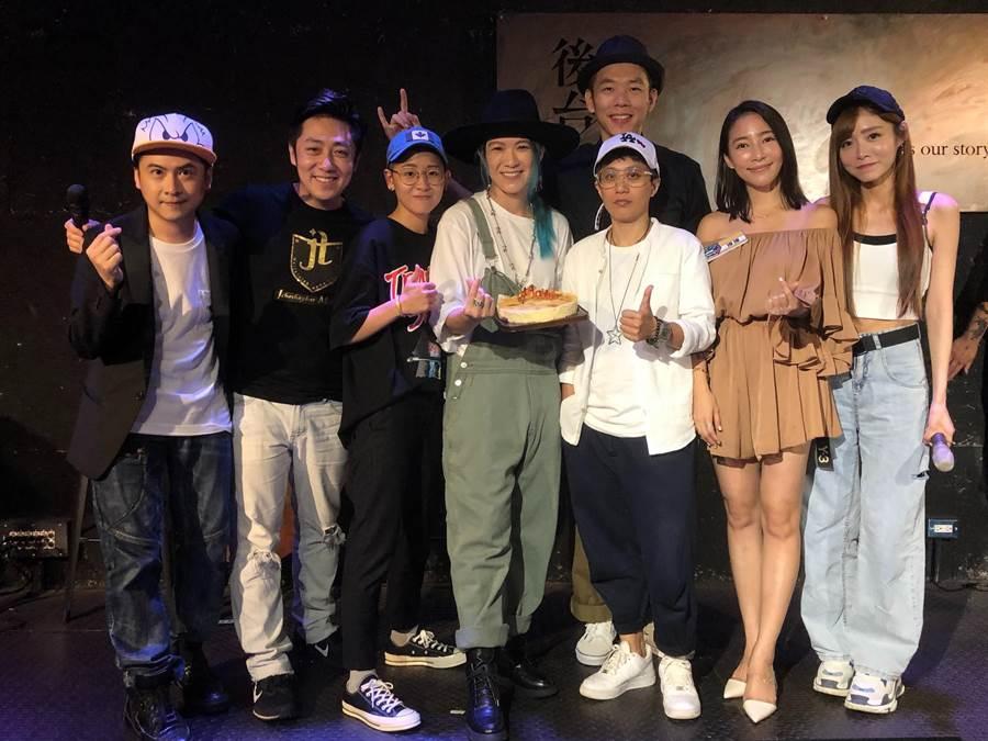 張芸京與藝人好友一起慶生。(經紀人提供)