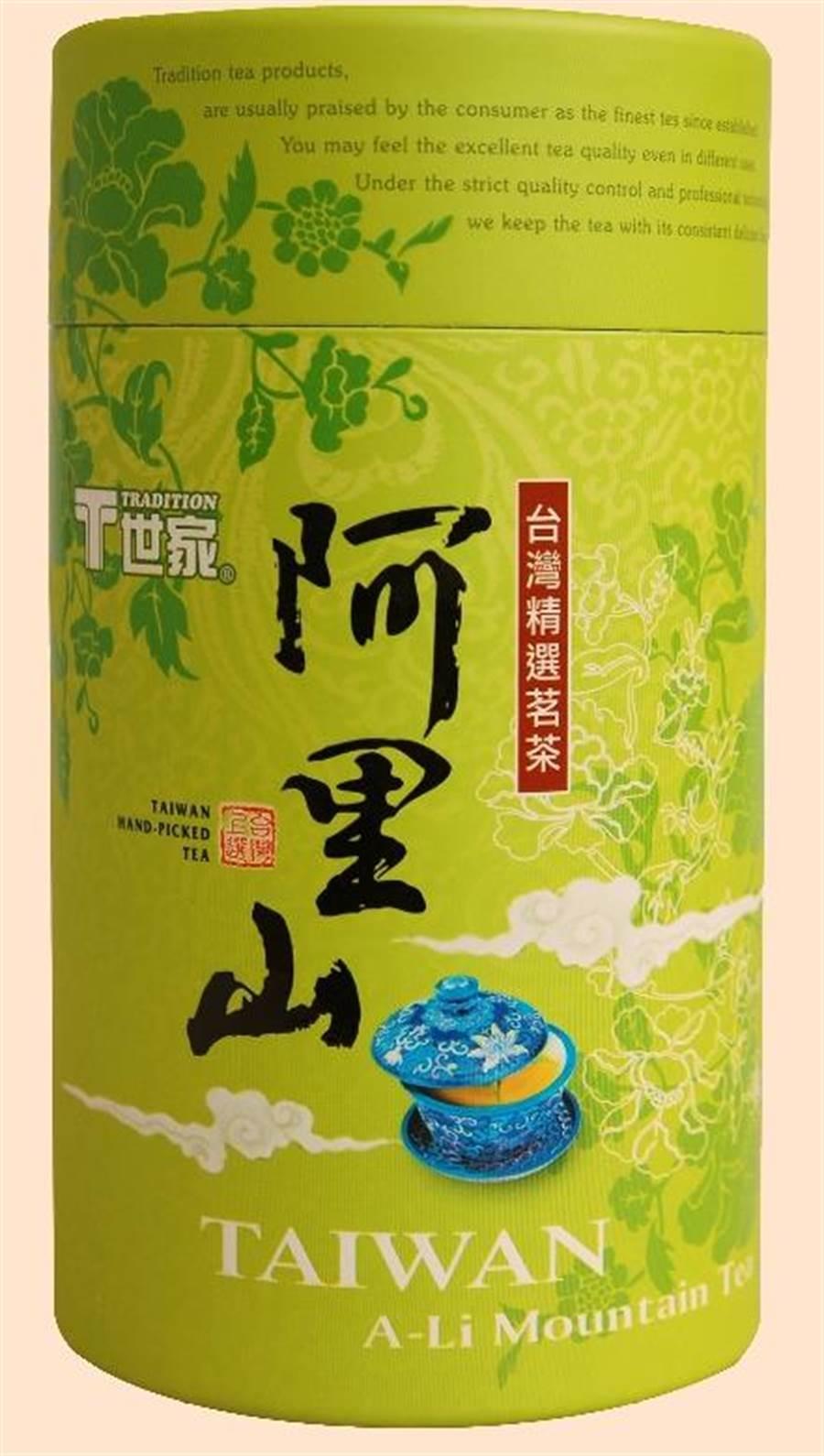 全聯T世家阿里山茶,台灣十大茗茶之一,150g、320元,6日至19日買2件特價519元。(全聯提供)