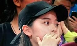 歐陽娜娜觀看大陸男籃 網轟:買通央視蹭熱度