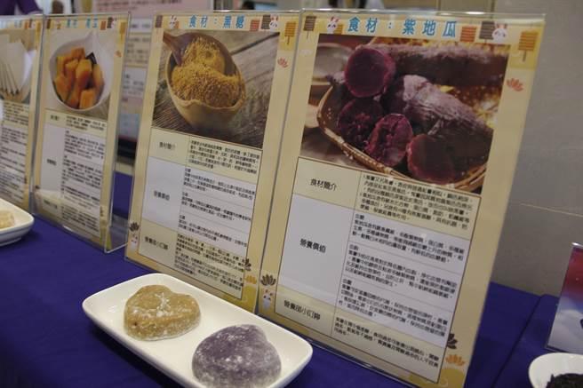 冰皮月餅成品營養介紹說明。(大千醫院提供/巫靜婷苗栗傳真)