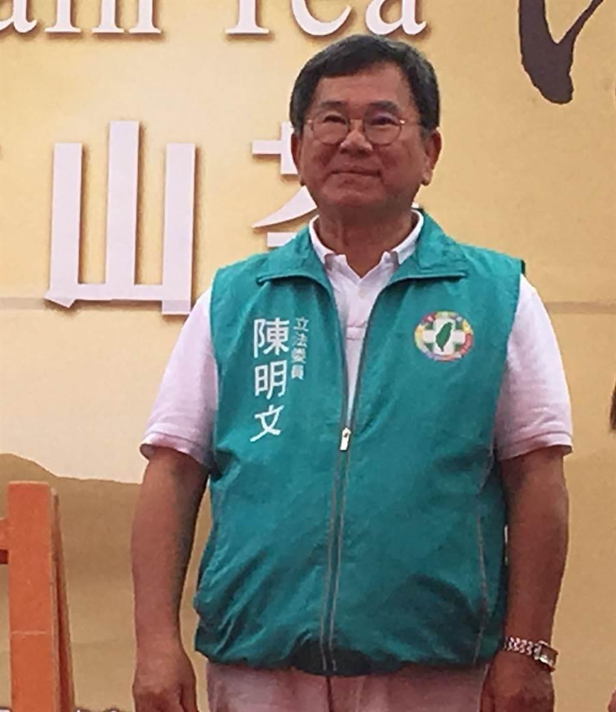 民進黨立委陳明文拚連任,惹上300萬現金疑案。(廖素慧攝)
