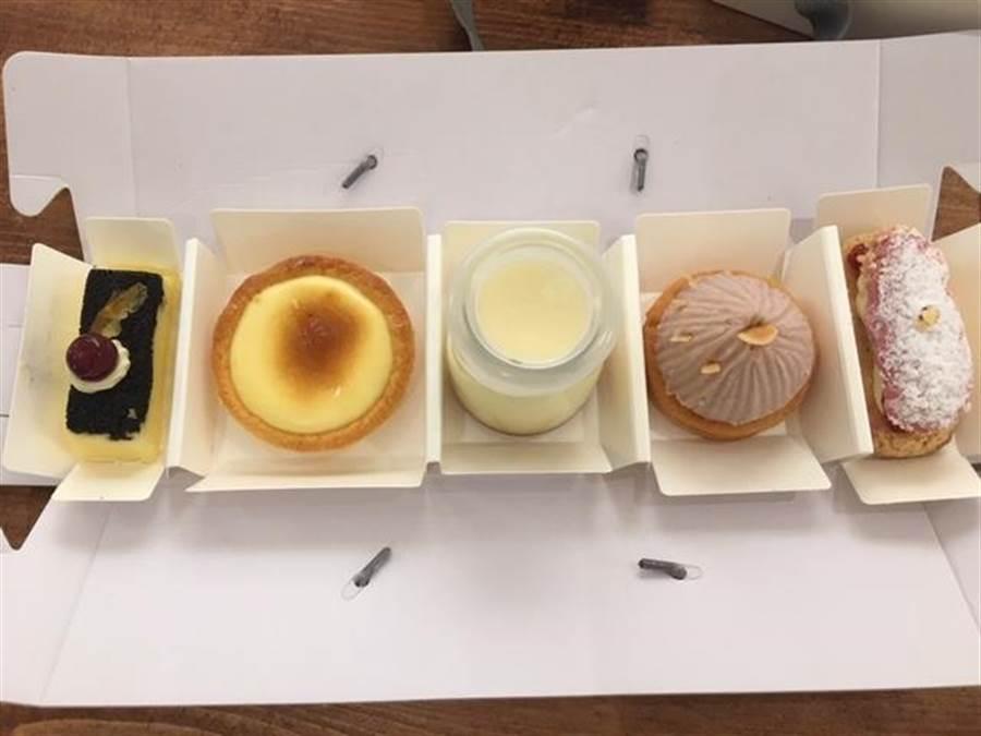 We Sweet Cafe乳酪法式甜點盒280元。(郭家崴攝)