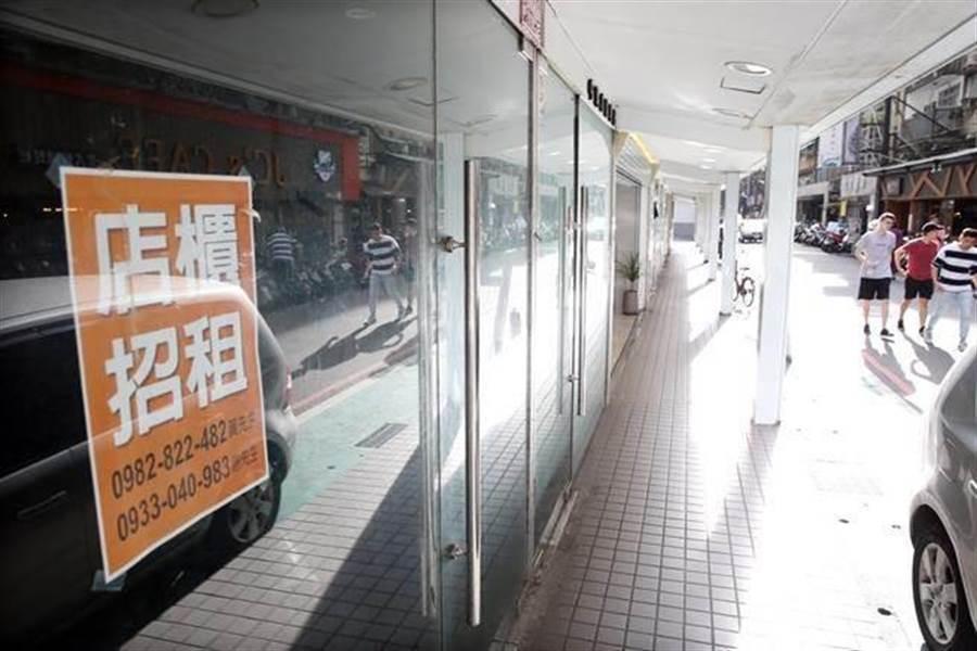 台北市商圈空店潮恐持續惡化?(圖/中時資料照)