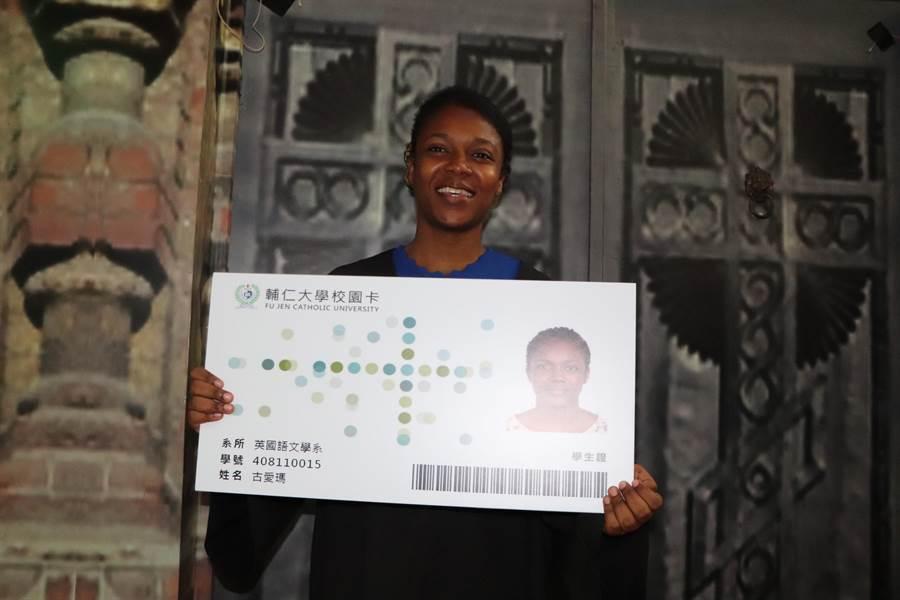 來自布吉納法索的古愛瑪遠渡重洋到台灣學中文,攻讀大學學位。(吳亮賢攝)