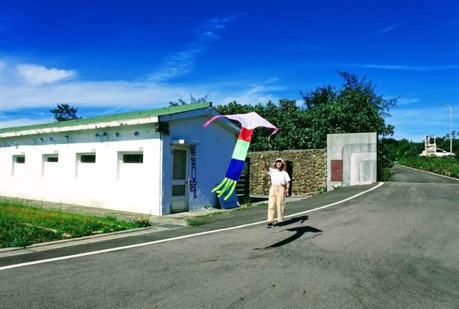石門「風藝術營區」體驗手繪風箏,還能自己練習放風箏。