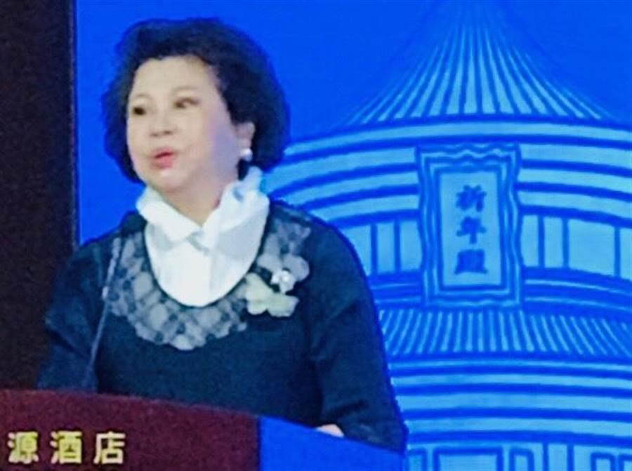 台灣婦女菁英聯盟總會長黃喜惠在女性論壇致詞。(圖/台灣婦菁聯盟提供)