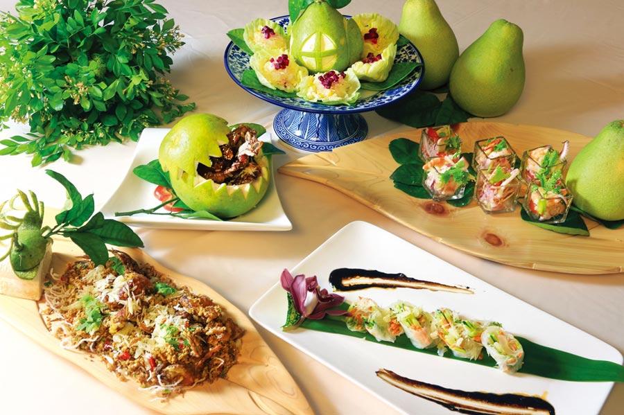 理想大地今年中秋推出柚子創意料理。圖/業者提供