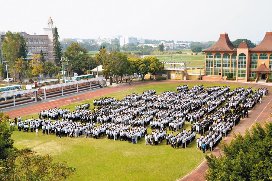 已確定明年起停招3年的協志工商,目前學生數多達2000人,是嘉義縣規模最大的學校。(摘自協志工商臉書)