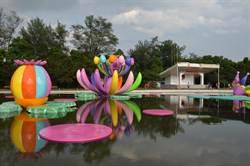 桃園市地景藝術節迎來首周末 人潮爆滿