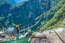 信義鄉雙龍吊橋 預計年底完工