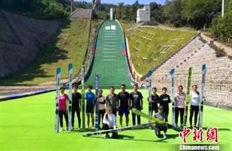 陸首個K90四季跳臺滑雪場 亞布力驗收成功