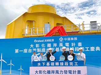 離岸風電在地化 首座轉階段試製完工