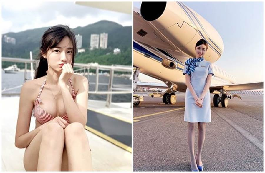 台灣最美空姐林巧評。(取自林巧評IG)