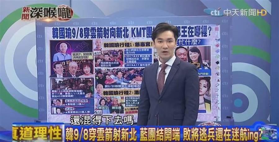 政論節目《新聞深喉嚨》主持人王又正。(圖/本報系影音截圖)