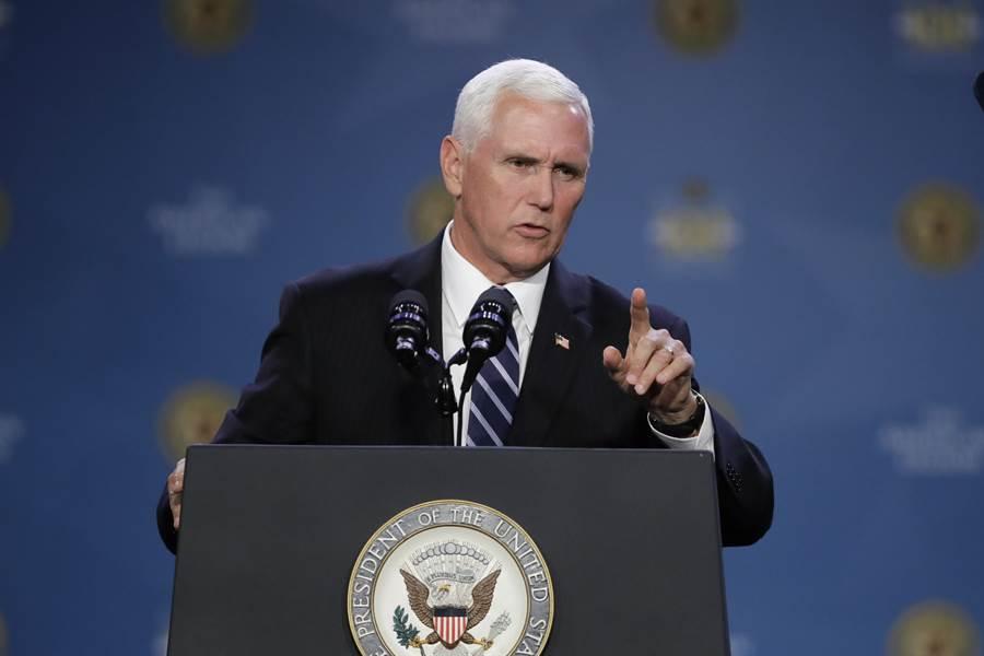 美陸貿易談判將於10月復談,一名白宮官員人士表示,美國副總統彭斯原定針對北京採取強硬態度的演說,已經重新安排至今年稍後舉行。圖為美國總統彭斯。(美聯社)