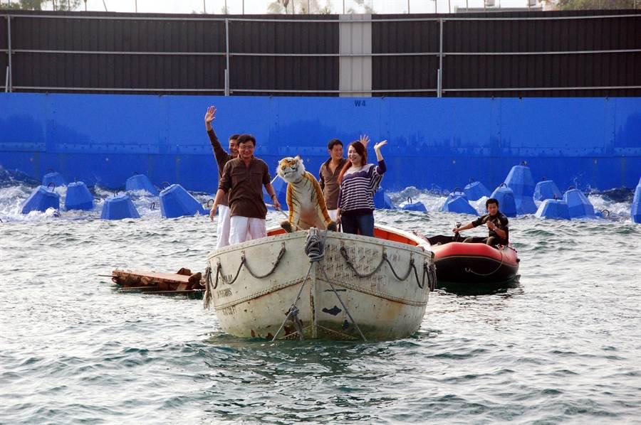 《少年Pi的奇幻漂流》的造浪池遷至中台灣影視基地,供電影拍攝使用。