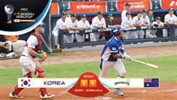 U18》韓國9上2分炮 逆轉勝澳洲奪銅