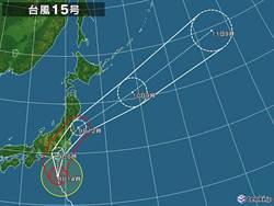 關東史上最強颱!法西今夜直撲東京地區