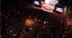 韓國瑜夜襲三重造勢空拍影片曝光 網:太震撼了!