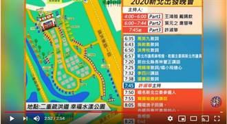 3分鐘看完韓國瑜今日造勢現場空拍與流程