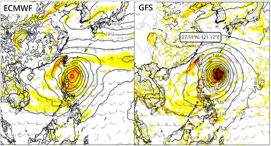氣象專家吳德榮專欄指出,歐洲及美國的模式模擬顯示,中秋節前夕,週二、三會有颱風發展的跡象。(摘自三立準氣象·老大洩天機)