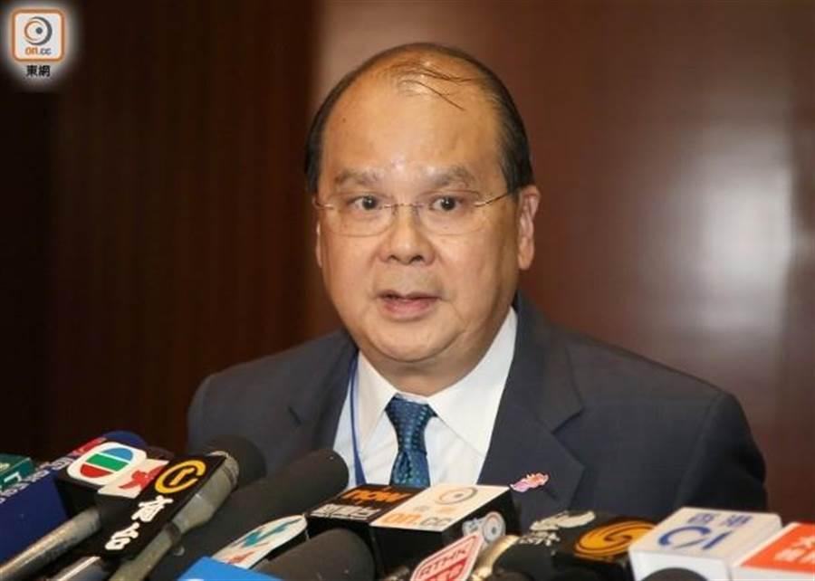 香港政務司司長張建宗。(圖/東網)
