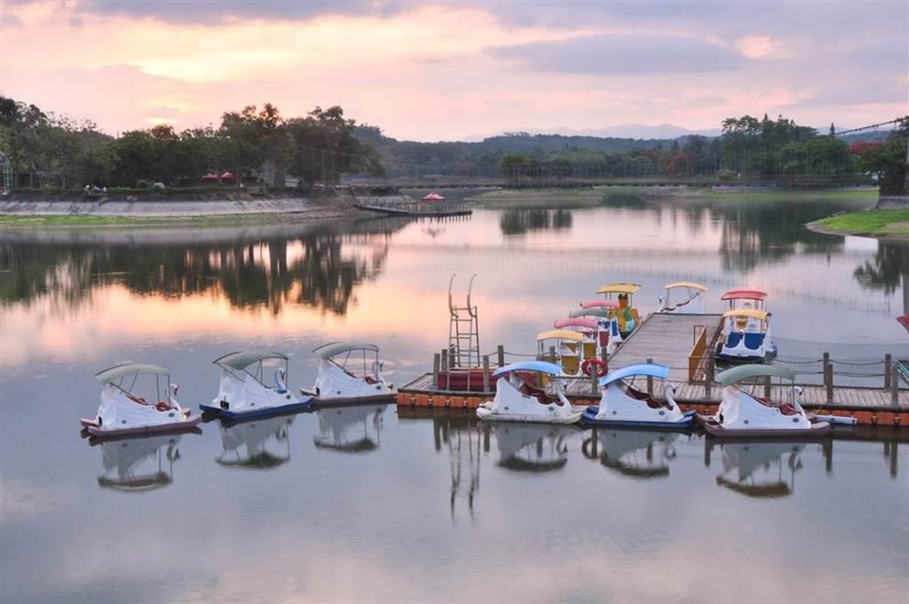 虎頭埤湖景。(圖取自台南旅遊網)