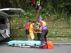老翁軟腿摔落竹林 遊客發現報警