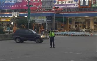 中秋節連假車潮現中市警方實施交管抓酒駕