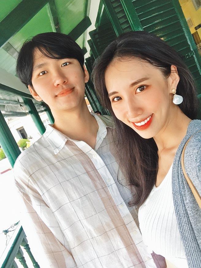 瑤瑤(右)與李振遠交往2年多,感情穩定。(瑤瑤提供)