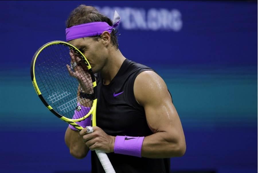 西班牙納達爾在美網男單決賽被噓。(美聯社)